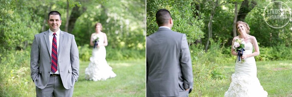 LaBelle Winery Wedding Bride Groom First Look