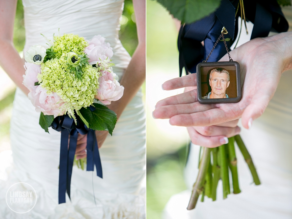 LaBelle Winery Wedding Bride Bouquet Father's Picture