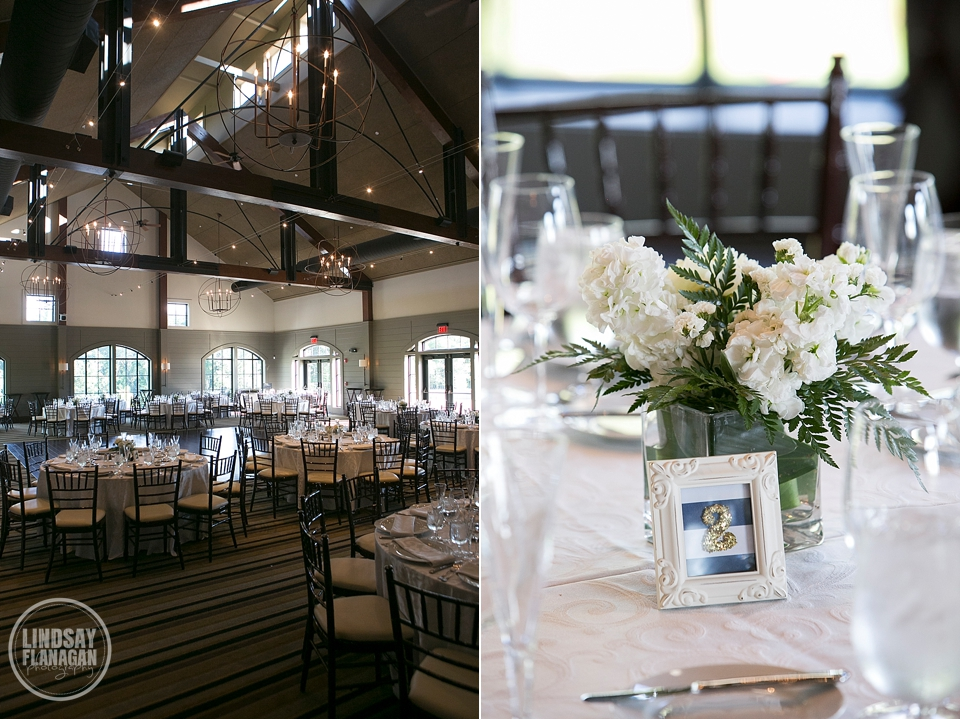 LaBelle Winery Wedding Reception Room Interior and Centerpieces