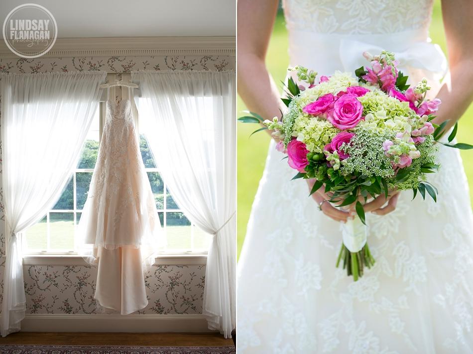 Lyman Estate Waltham Massachusetts Wedding Dress Bridal Bouquet