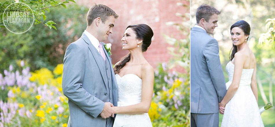 Lyman Estate Massachusetts Wedding Bride Groom Portrait