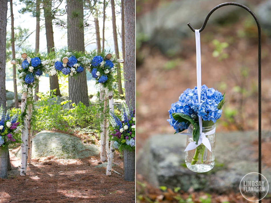 Colleen and Gerry's  Rockywold Deephaven Camp Wedding  | Floral Designer -  Mountain Laurel Florists