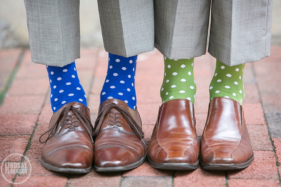 Ian and Peter's  Cambridge Multicultural Arts Center Wedding  | Socks by  The Tie Bar