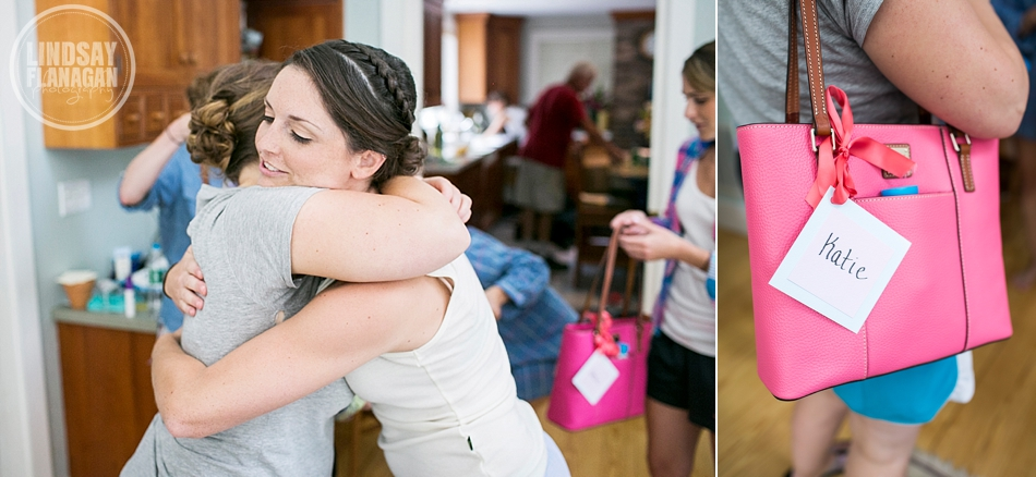 Rye New Hampshire Wedding Bride Bridesmaids Gifts Dooney Burke