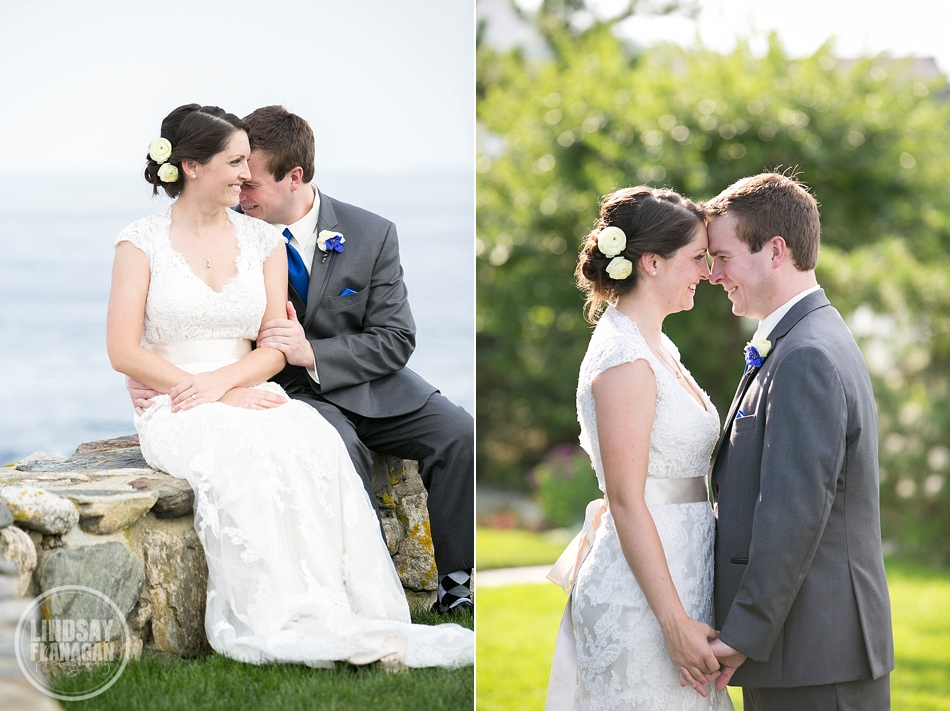 Rye New Hampshire Wedding Bride Groom Portrait