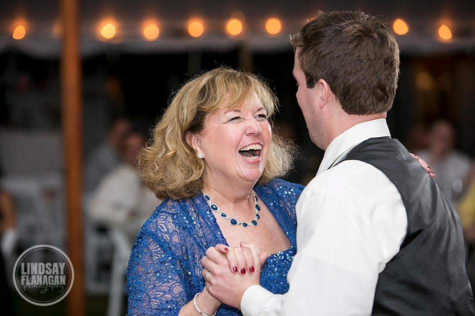Rye New Hampshire Tented Wedding Reception Mother Son Dance