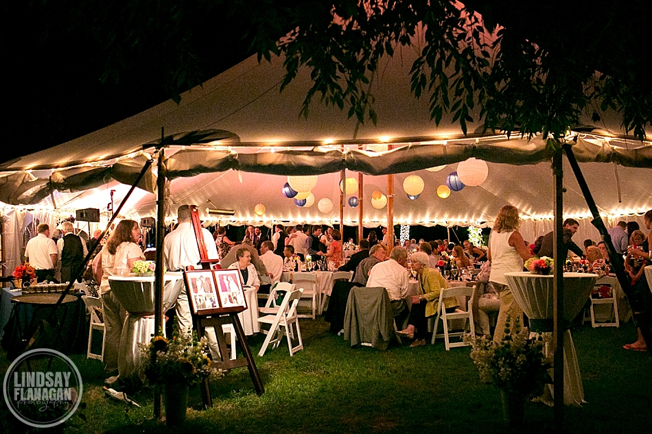 Rye New Hampshire Tented Wedding Reception Private Residence
