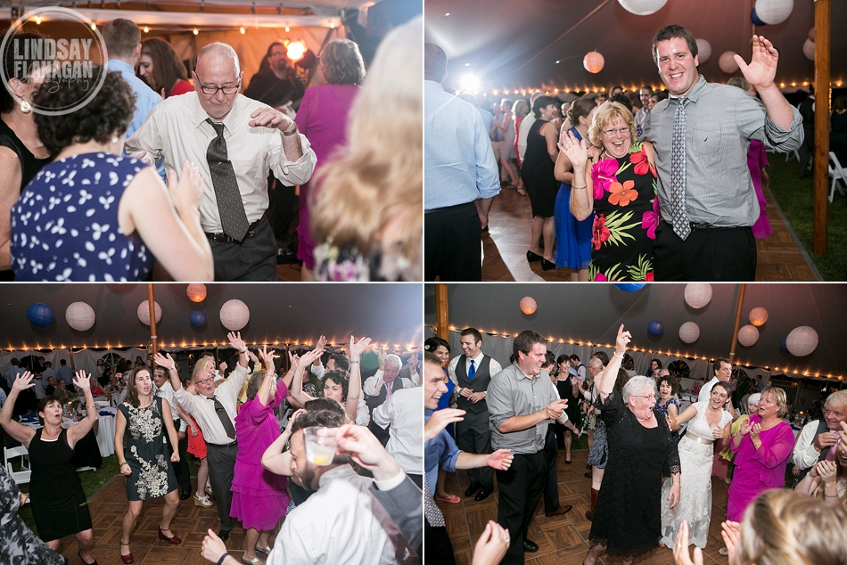 Rye New Hampshire Tented Wedding Reception Dance Floor