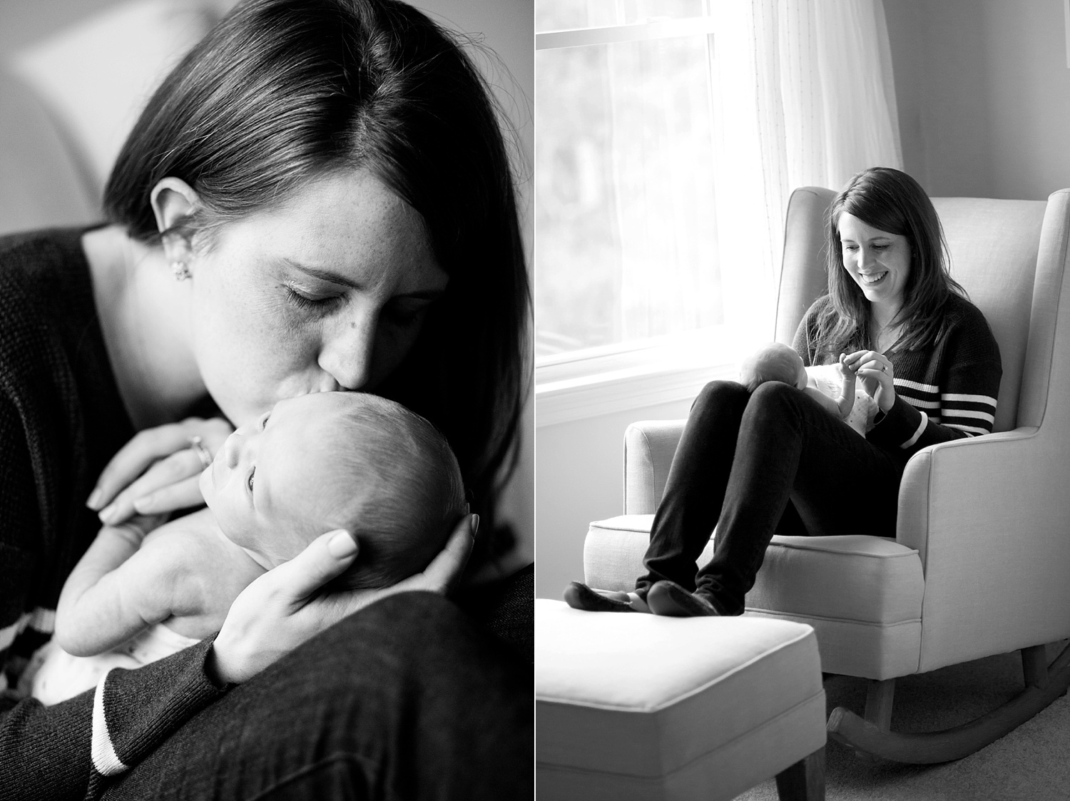 Lifestyle Newborn Photography Session in Massachusetts by Lindsay Flanagan Photography | www.lindsayflanagan.com