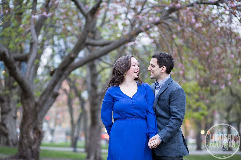 Boston Common City Engagement Wedding Photographer