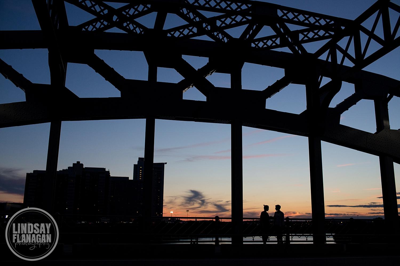 Boston University Bridge Engagement Session Same Sex