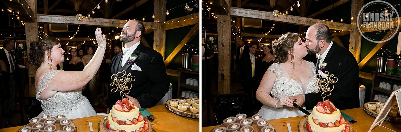 Stone-Mountain-Arts-Center-Maine-Wedding-Cake-Cutting