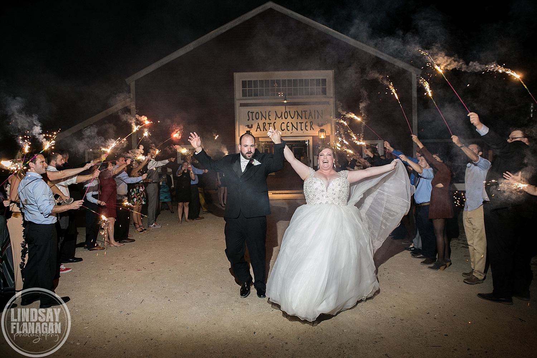 Stone-Mountain-Arts-Center-Maine-Wedding-Sparkler-Exit