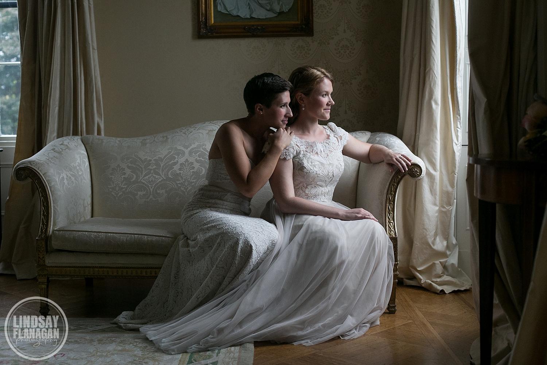 Commanders Mansion Watertown Massachusetts Same Sex Lesbian Wedding