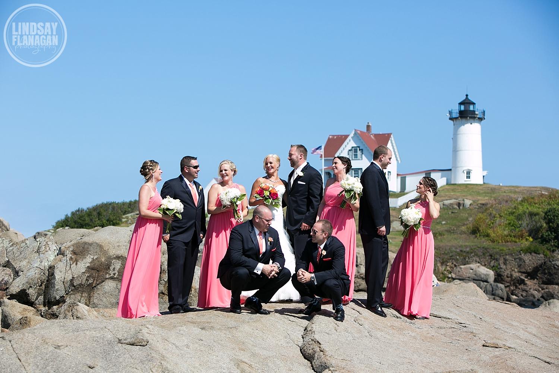 Nubble-Lighthouse-York-Maine-Wedding-Party-Portrait