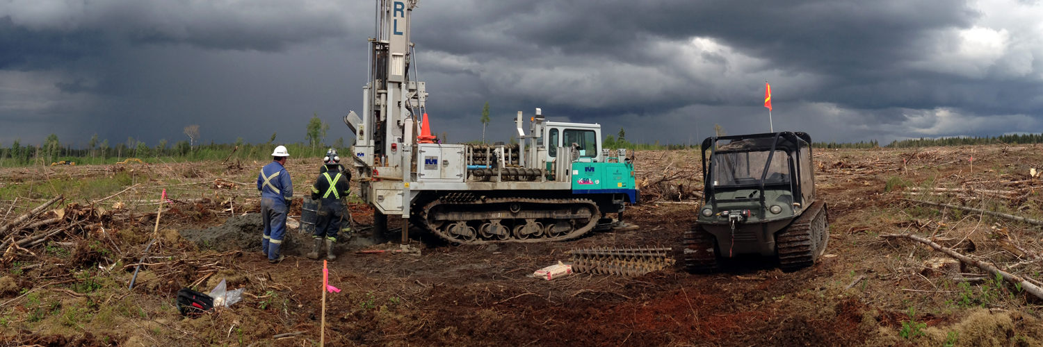 MARL AR/80 - geological drilling on the Canadian tundra.