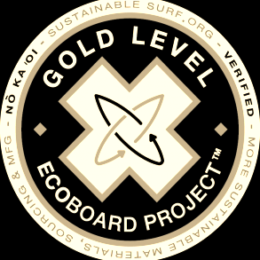Gold Level: Entropy Resin + Marko Core$100 - The board itself is as environmentally friendly as possible with the exception of plastic components; fin boxes, fins, and leash plug. Experience the added buoyancy of an EPS core; enjoy a lighter, super responsive surfboard that will outlast traditional surfboards