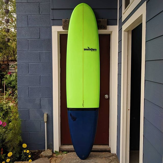 "8'4"" x 22"" x 3"" with triple 6oz deck glassed with Entropy resin for Derek. Thanks for the support and go Seahawks!  The season is nearly upon us!"