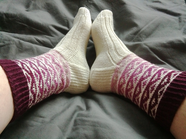 KnittyWench's stunning Otis socks - click on the photo to see her Ravelry page.