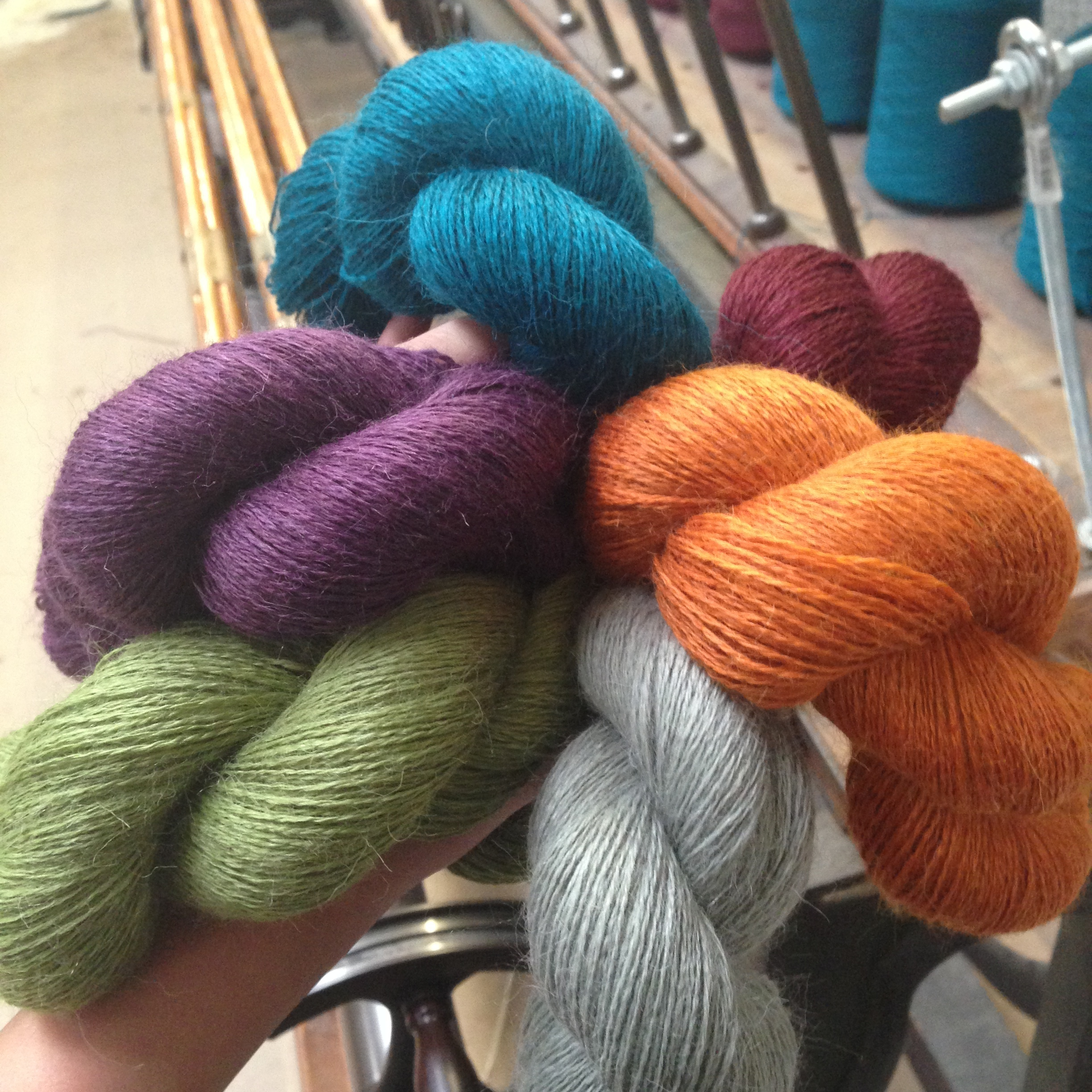 The finished skeins