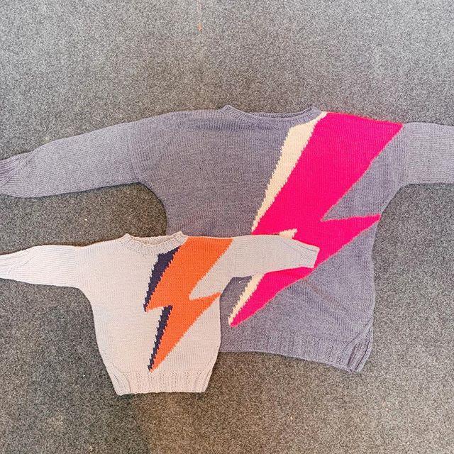 I've got amazing patterns from @knittingandgin including VOLT and VOLT MINI ME - knitted using Socks Yeah DK #edinburghyarnfestival #eyf2019