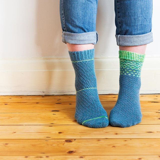 The kits for all 3 of my collaborations with @vickibrowndesigns are in the shop now (link in bio) - you will get 2 skeins of Socks Yeah, a beautiful hand dyed mini from Vicki and a pattern for knitted and crocheted socks