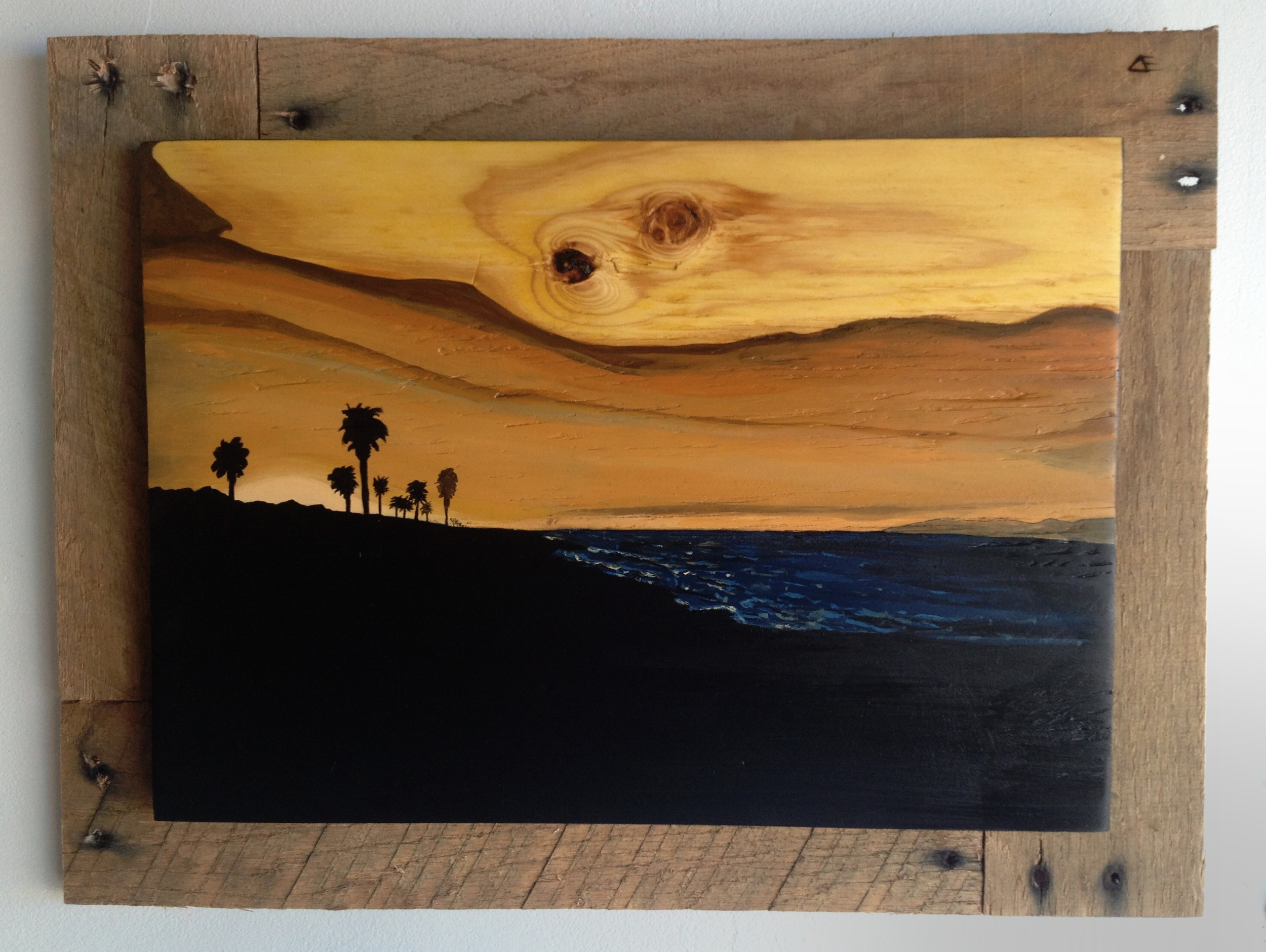 Acrylic and wood stain