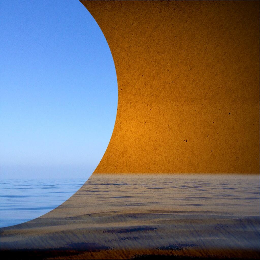 Blue Moon - Digital Painting - 10x10 print on Birch Wood