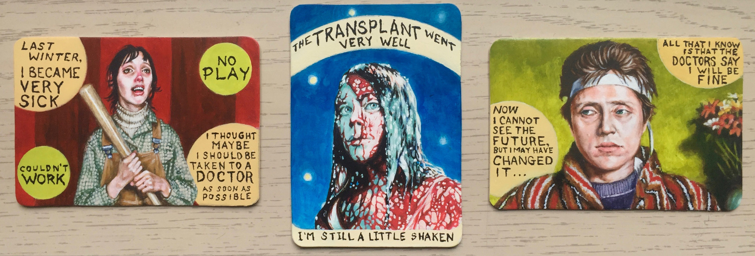 Transplant Horror Triptych