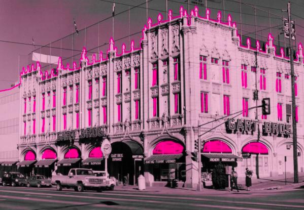 The iconic Sports Castle ala the creative MCA folks (image via  MCA Denver  via  Instagram ).