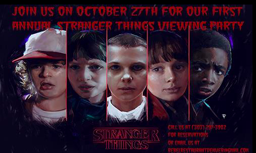 All kinds of YES for the Stranger Things viewing party at Rebel Restaurant (image via  Rebel Restaurant  via  Facebook ).