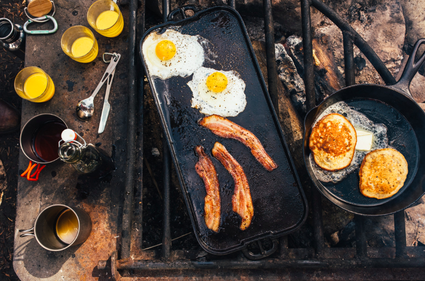 Our camping breakfast inspiration for this weekend (  courtesy of Bon Appetit Magazine )