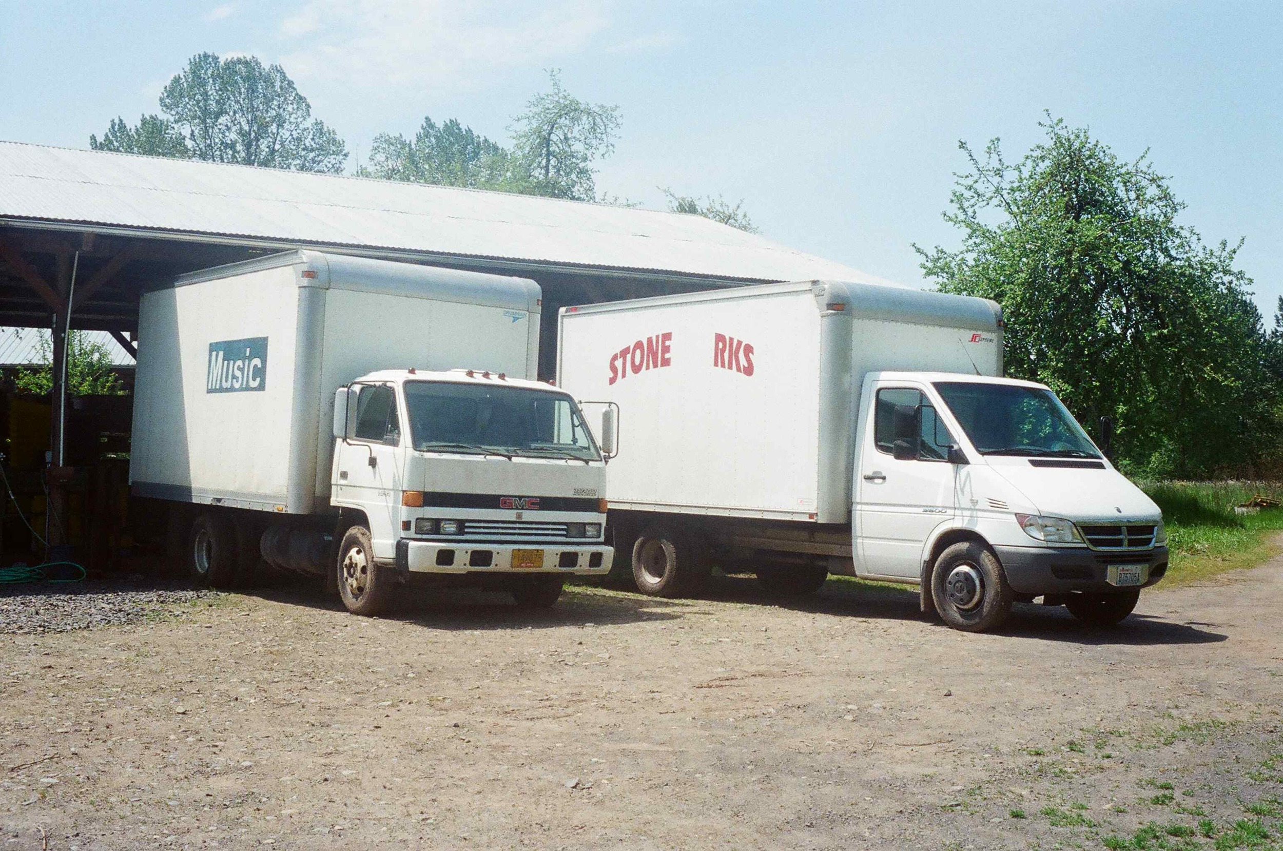 It takes a lot of diesel and air emissions to get our produce to market. We mitigate the impact by seeking out high efficiency vehicles. The Sprinter on the right gets 18 mpg while the Isuzu on the left only gets 14 mpg.