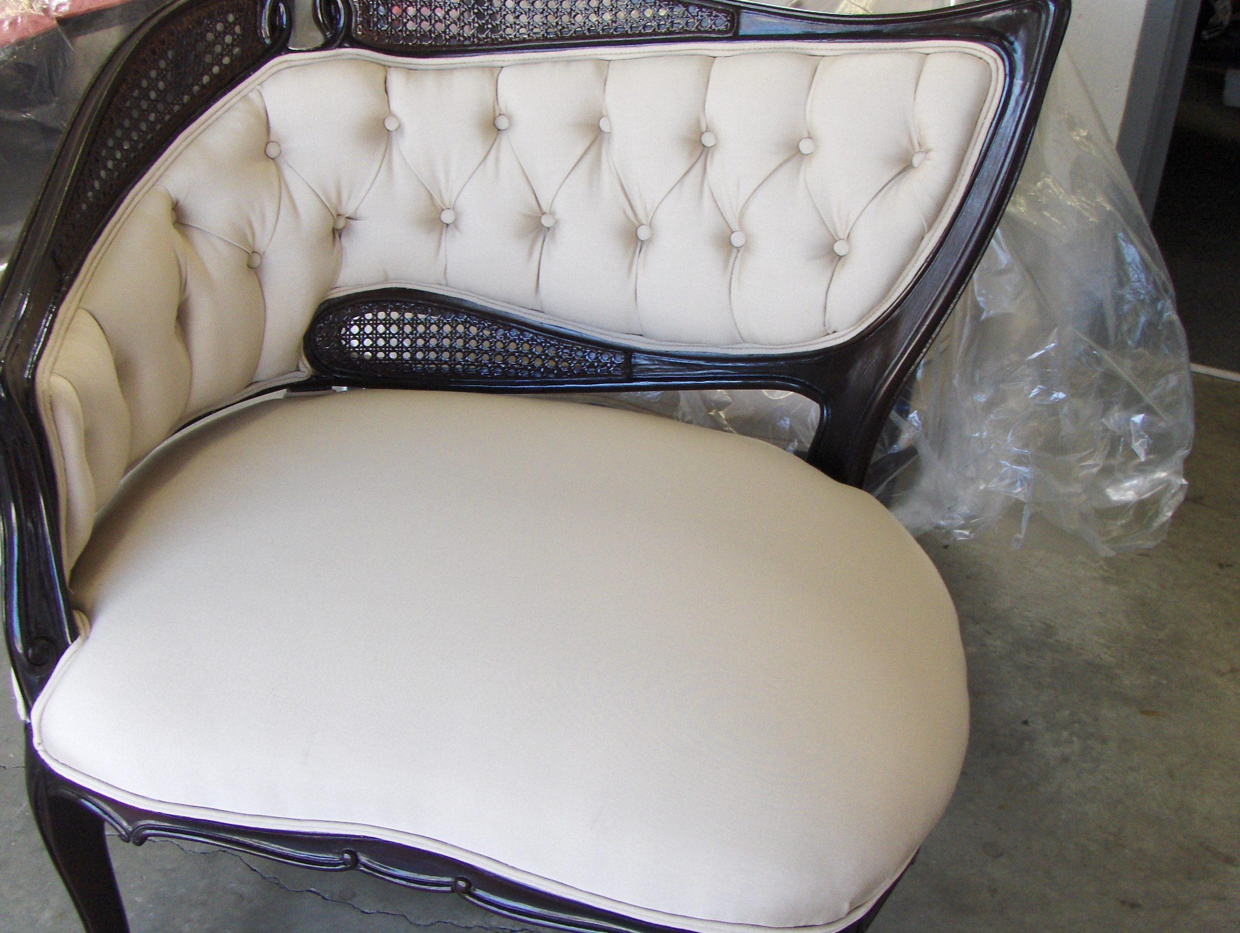 Side Chair  Silk w/ tufting