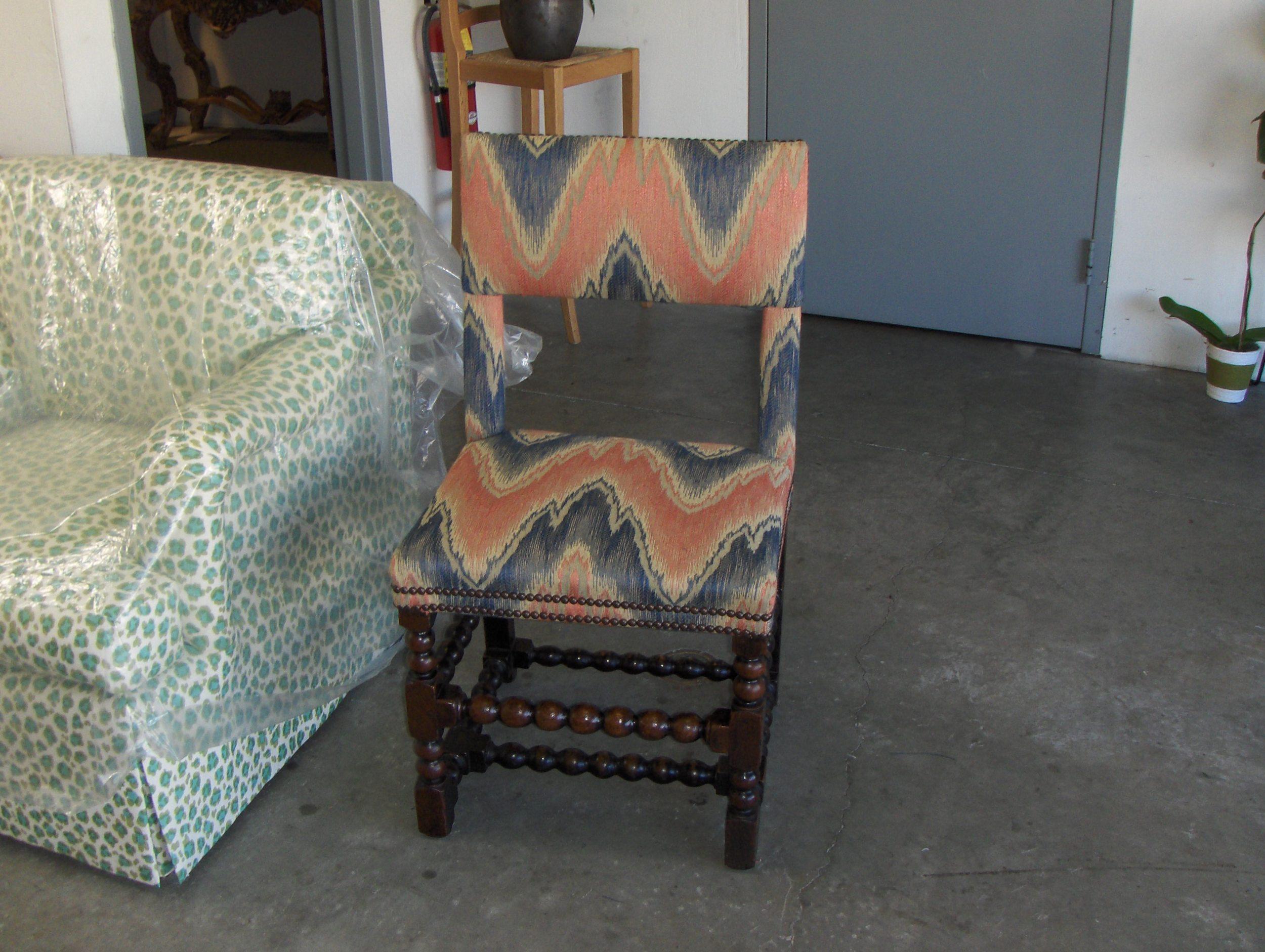Dinning chair  Ikat cotton