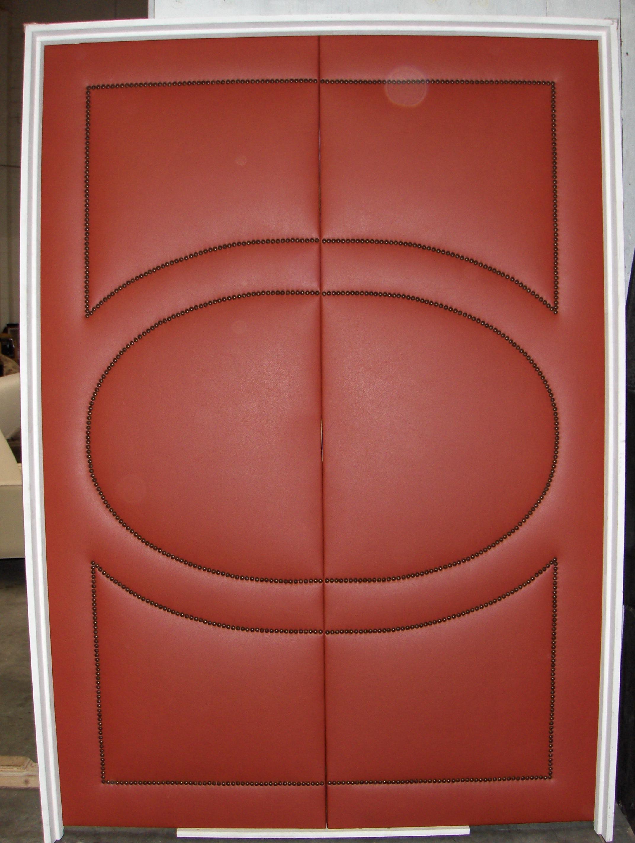 Custom Door  Leather w/ nailheads