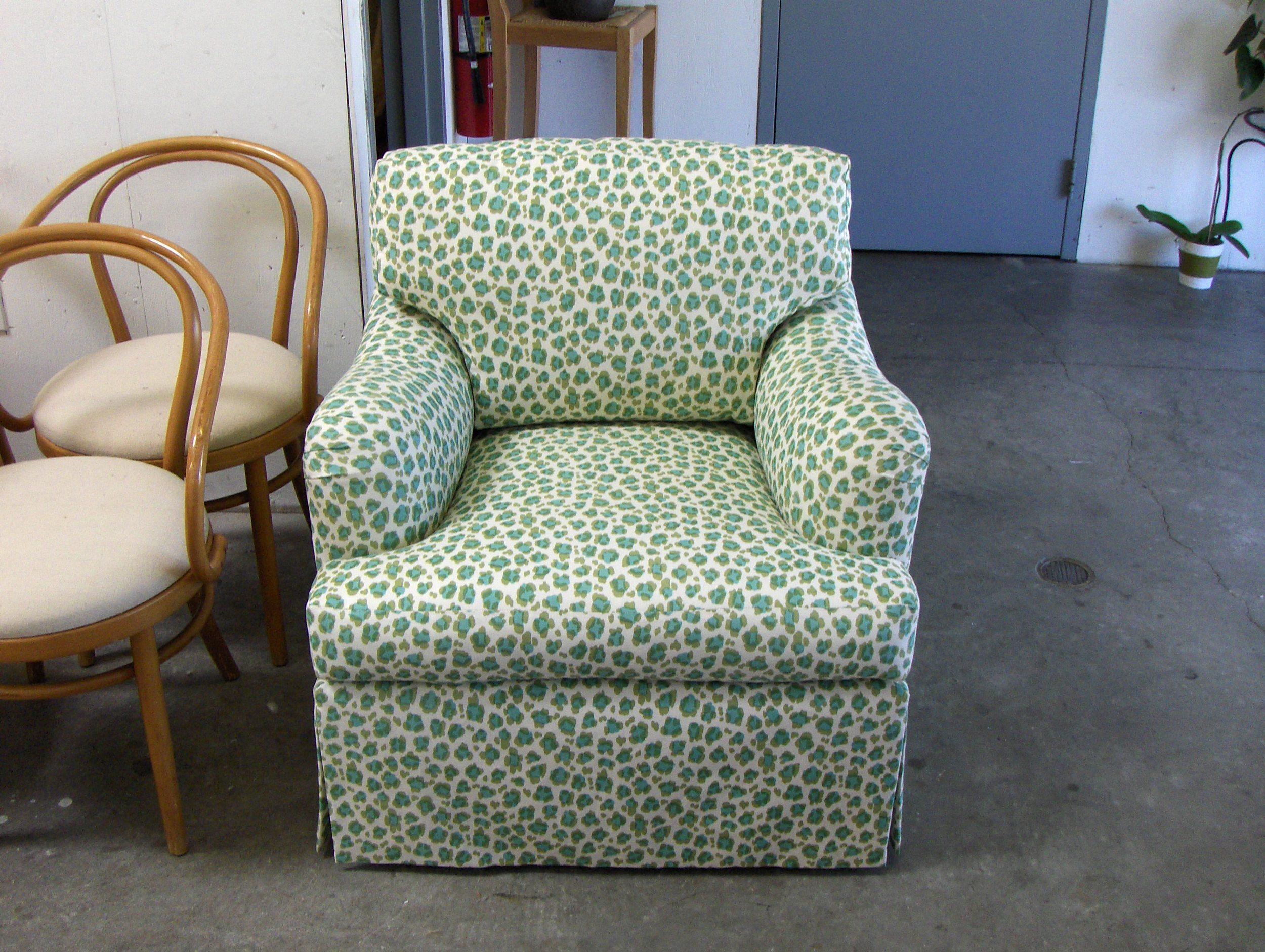 Chair  Cotton print w/ drop skirt