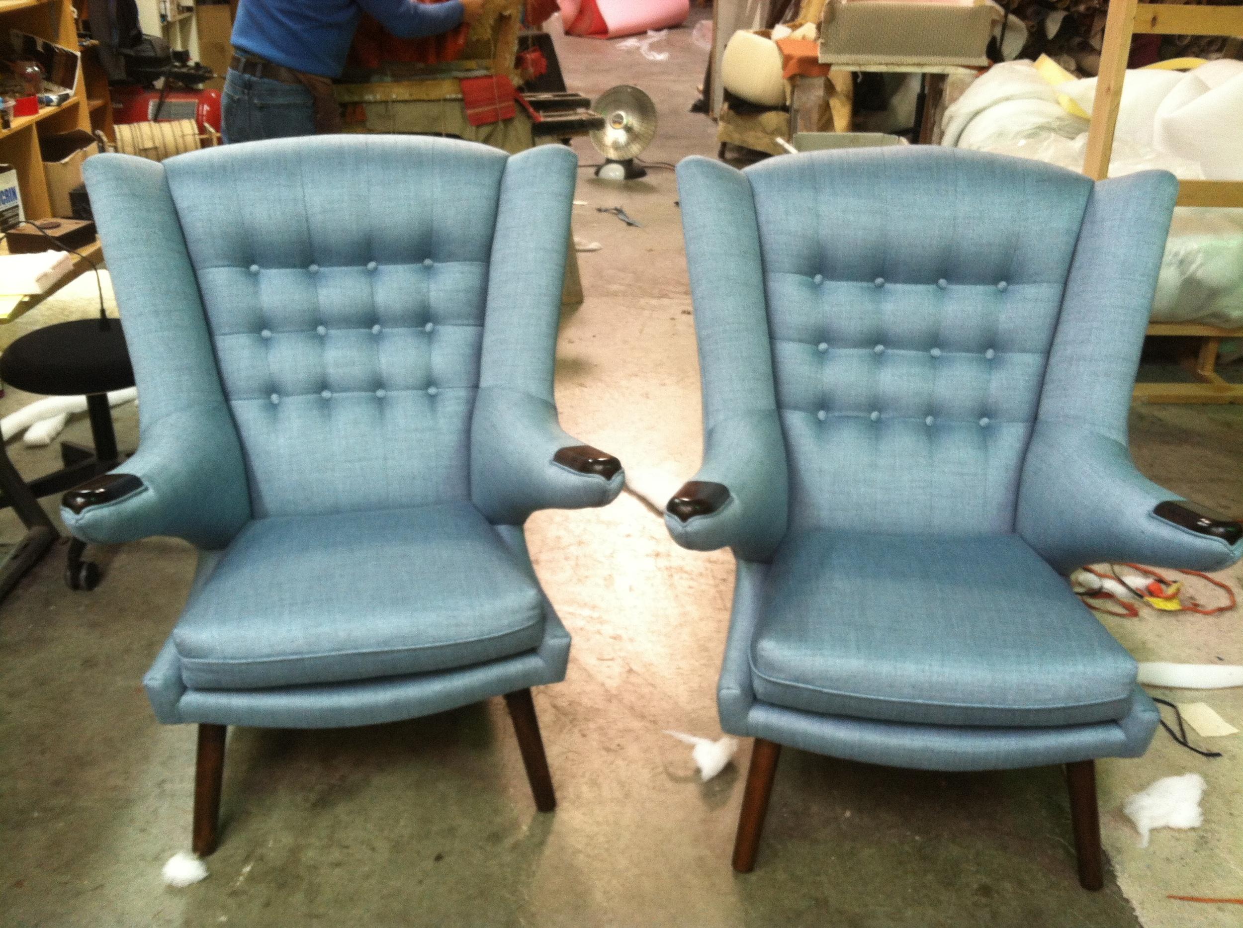 Side Chairs  Silk w/ tufting