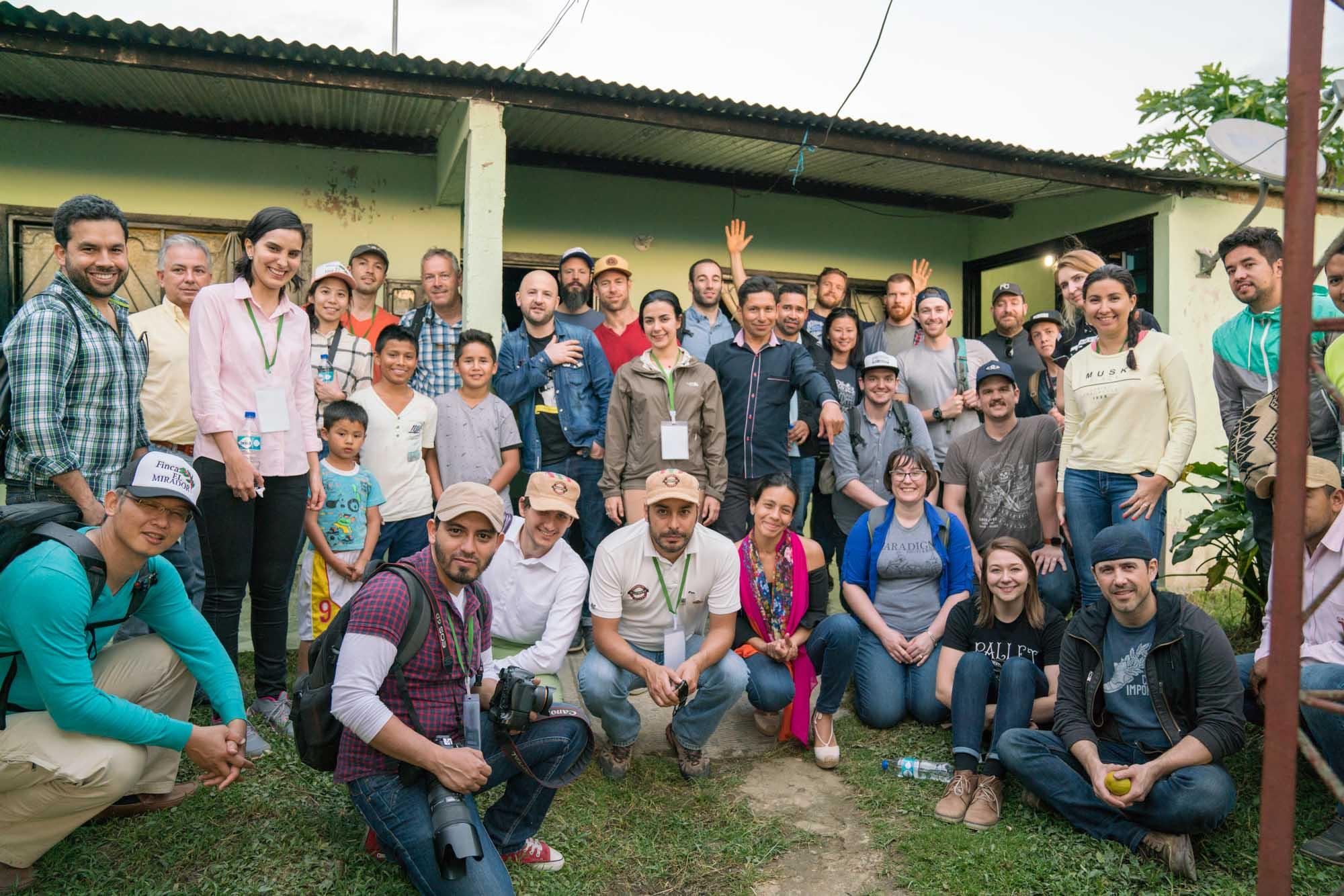 The group at Finca La Pradera