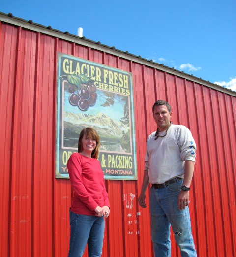 Dusti and Cody Herrings, owners of Glacier Fresh.