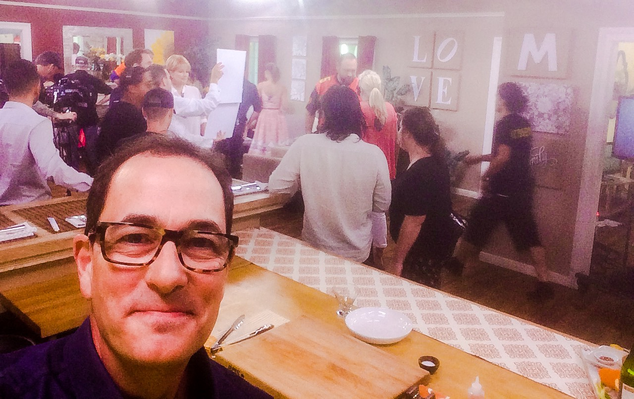 sam the cooking guy at HOME & FAMILY hallmark show