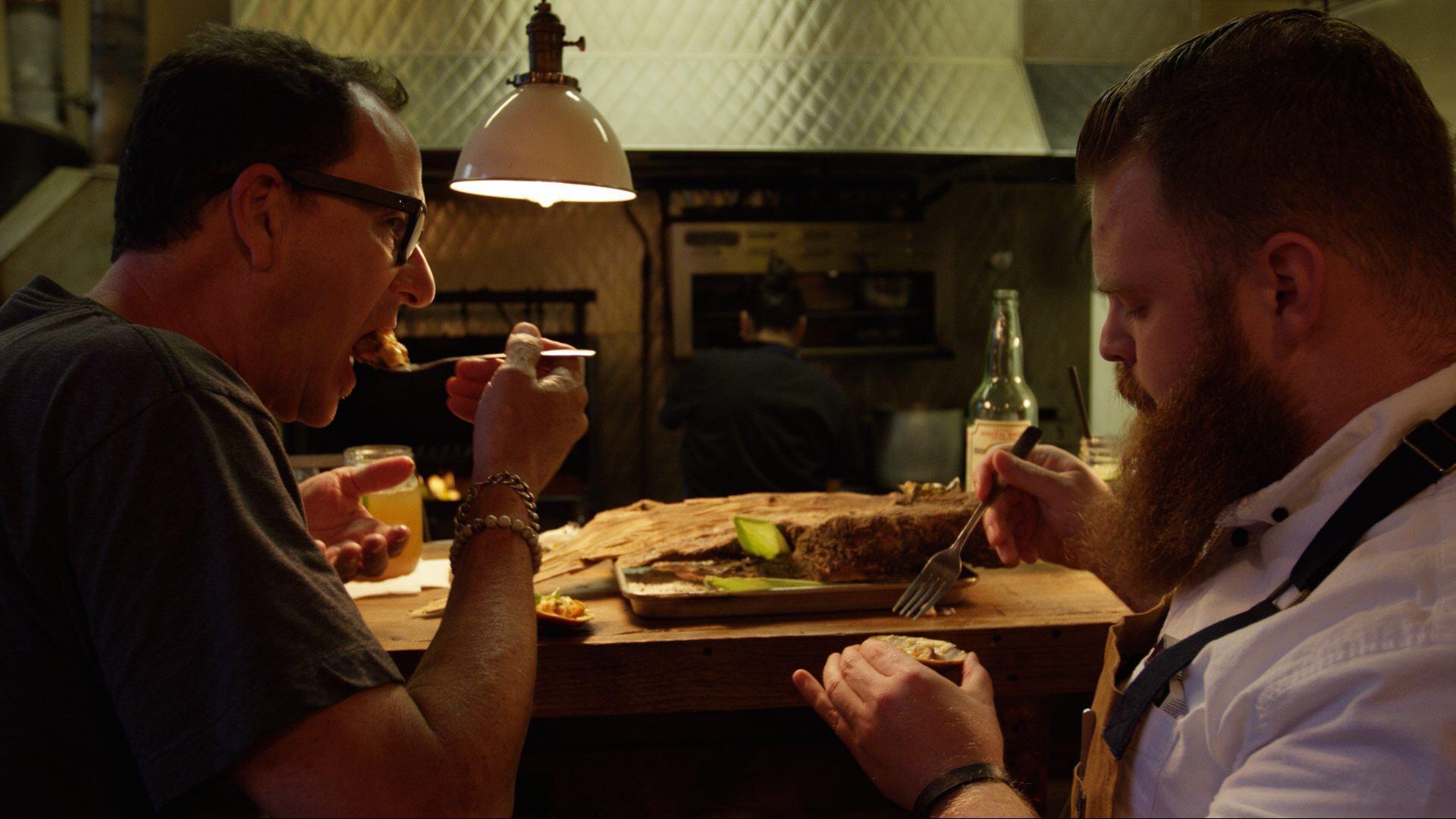 Sam with Chef Chad White at La Justina in TJ