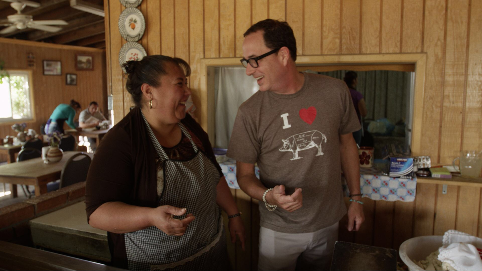 Sam and  Doña Esthela  from   La Cocina de Doña Esthela   – best home cooking Mexican breakfast in the   Guadalupe Valley