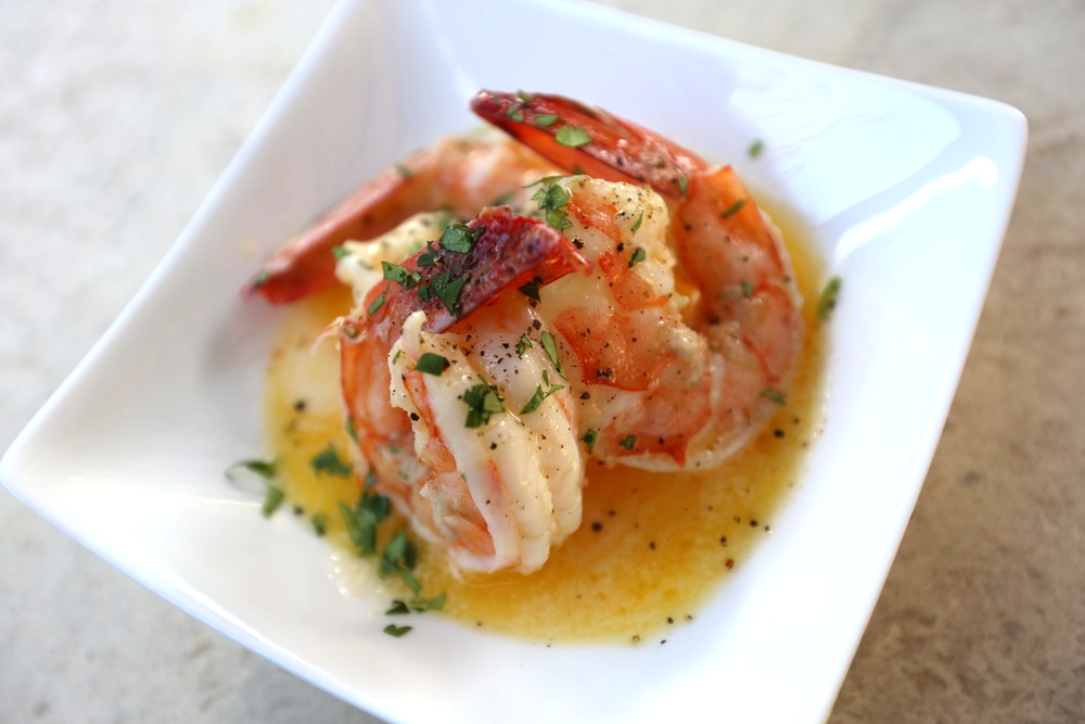 the cooking guy finlandia butter shrimp