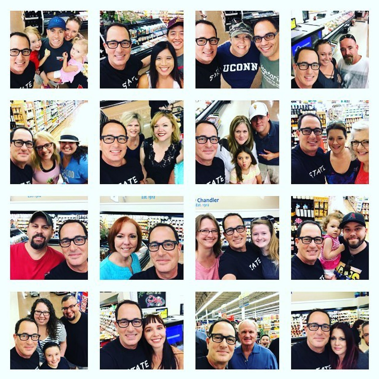 Some of the people who came to Chandler Albertsons.