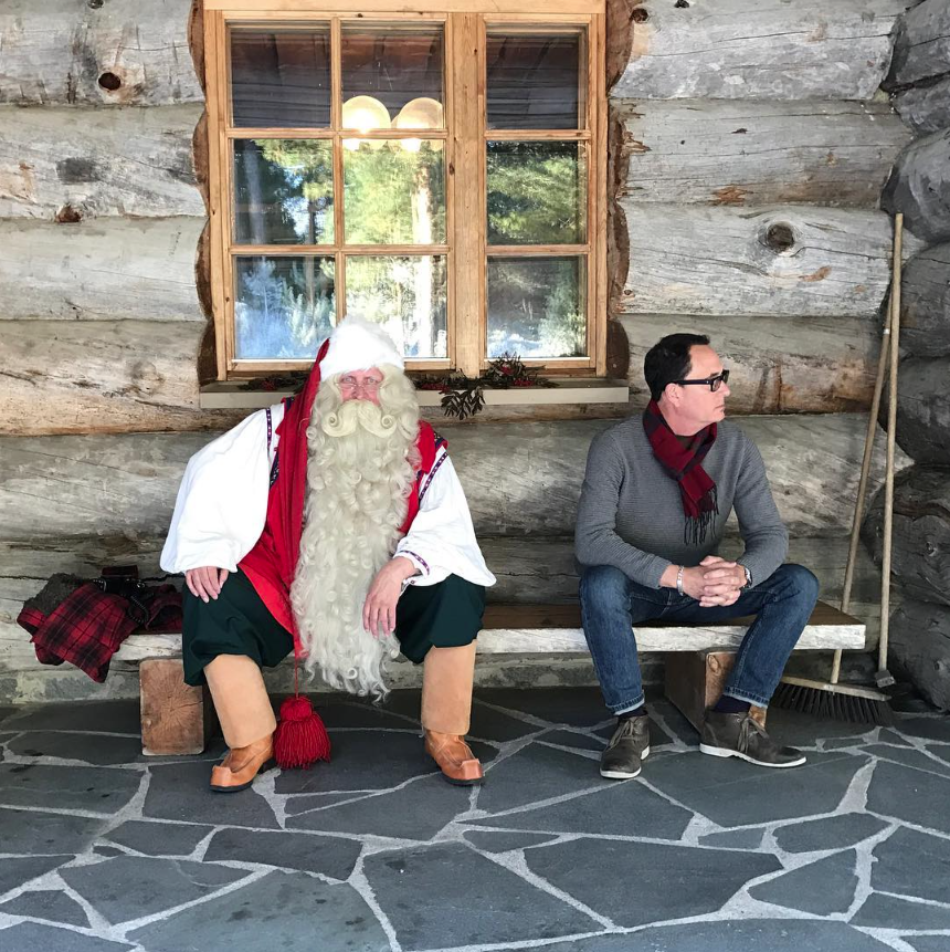 Just chillin in Upinniemen varuskunta-alue, Finland.  #therealsantaliveshere