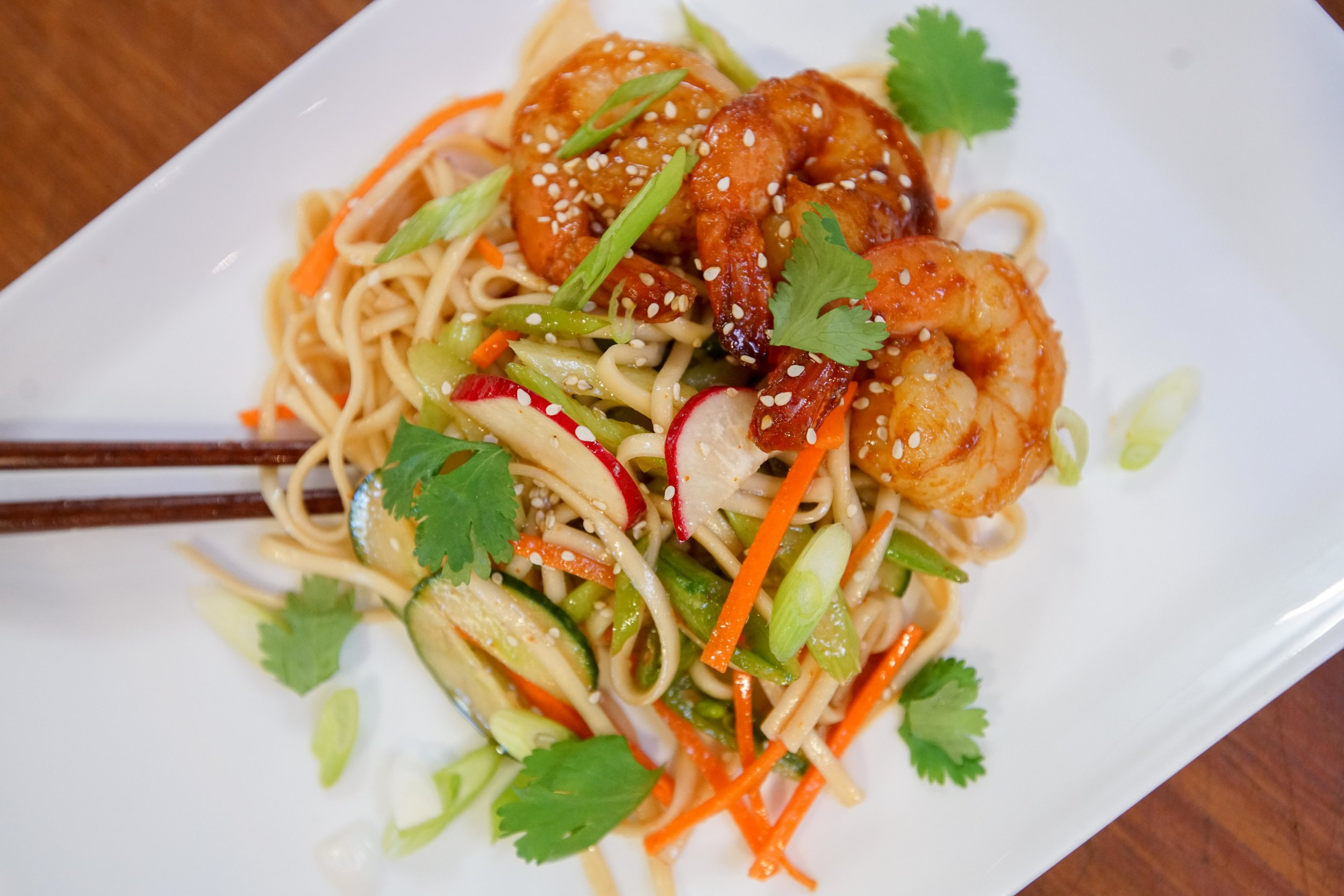 Cold Asian Noodle Salad — SAM THE COOKING GUY