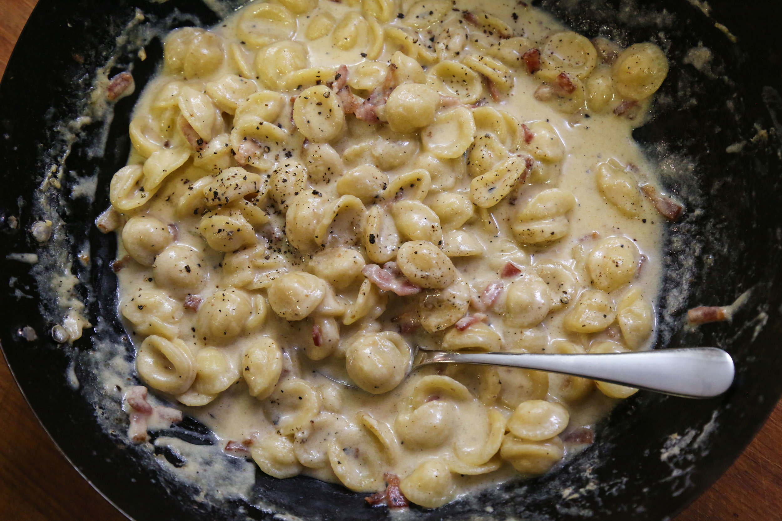 one pot mac and cheese stage