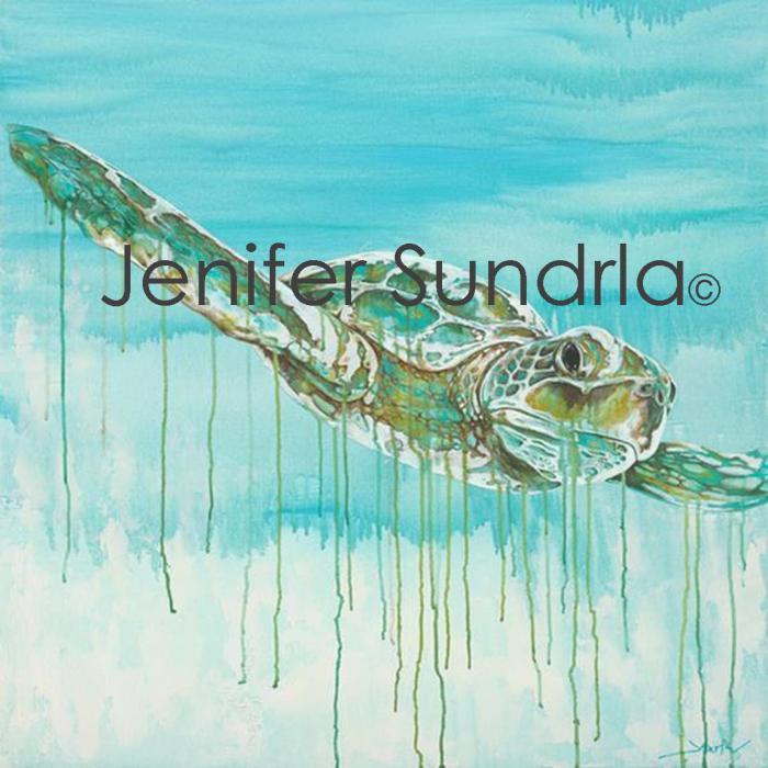 "Jenifer Sundrla, ""Old Wise Turtle"""