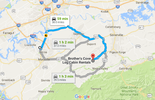 Click image to view Google Map of route.